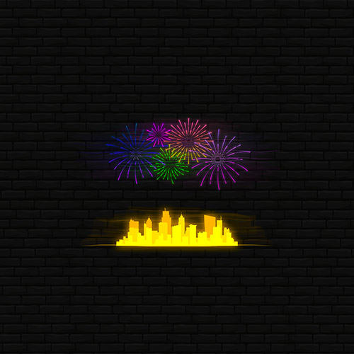 City Fireworks Neon Yellow